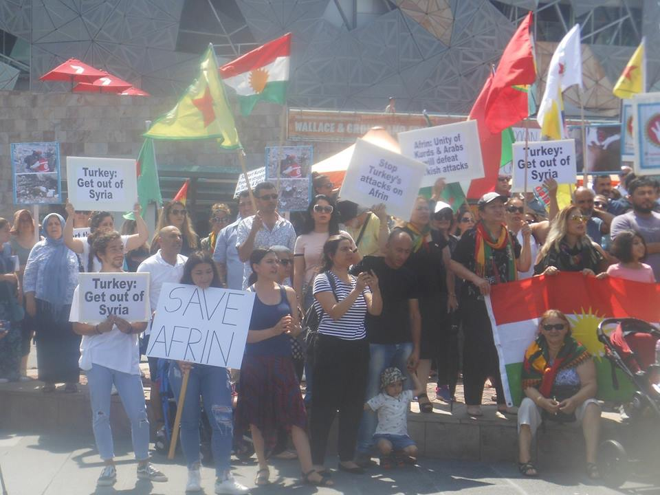 Afrin protest